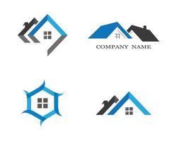 conjunto de design de logotipo de casa vetor