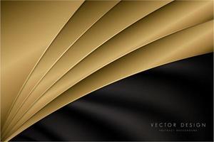 luxuoso fundo metálico dourado com espaço escuro. vetor