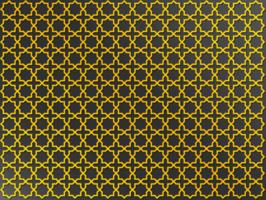 padrão de cruz dourada árabe