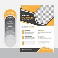 modelo de folheto de negócios preto amarelo vetor