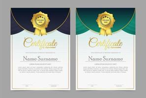 certificado de sócio melhor prêmio diploma vetor