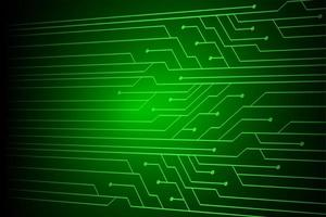 tecnologia futura de circuito cibernético verde simples