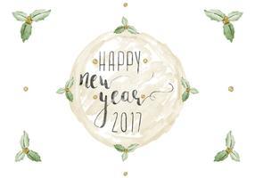 Livre vetor de aguarela de ano novo feliz