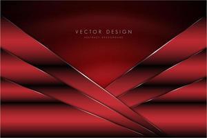 fundo vermelho metálico com textura de seda vetor