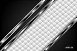 fundo metálico preto e prata com estofamento branco vetor
