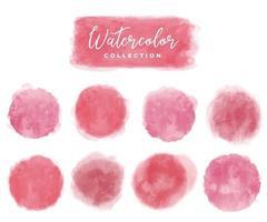 coleção aquarela elementos vermelho, rosa
