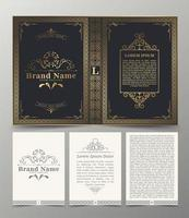 design de capa de livro retro ornamental vetor