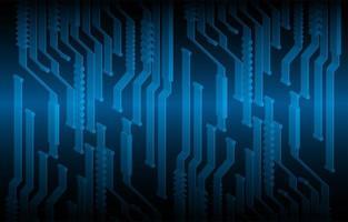 fundo de conceito de tecnologia futura de circuito cibernético 3d azul vetor