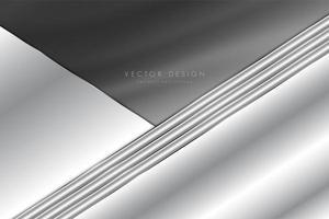 fundo cinza metálico com textura de seda. vetor