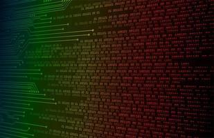 fundo colorido do conceito de tecnologia futura de circuito cibernético vetor