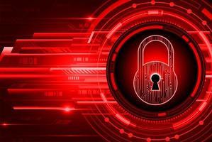 cadeado fechado em fundo digital preto e vermelho