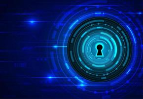 cadeado fechado em fundo digital. cíber segurança.