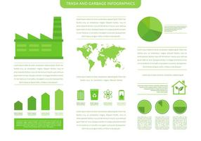 Molde Infográfico de lixo e lixo vetor