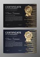 modelos de certificados profissionais vetor