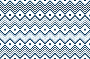 padrão geométrico de linha tribal azul vetor