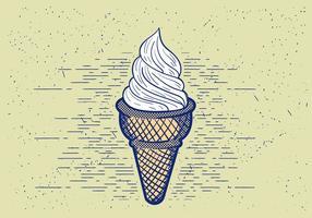 Ilustração detalhada do icecream detalhada vetorial vetor