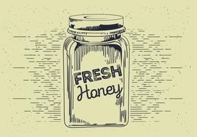 Esboço livre do vetor do frasco do mel