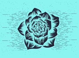 Estêncil livre de flores vetoriais vetor