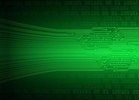 fundo de tecnologia futura de circuito cibernético verde vetor