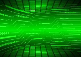 fundo de tecnologia de circuito cibernético verde vetor