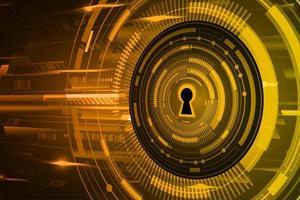 cadeado fechado em fundo digital, cibersegurança