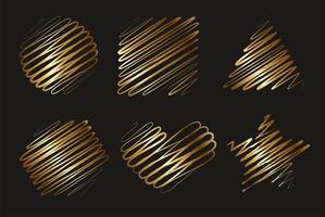 moldura de forma geométrica feita de gradiente amarelo dourado elegante vetor