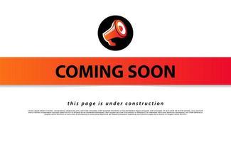 em breve e design da página de destino em construção vetor