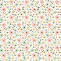 padrão floral sem costura desenhado à mão vetor