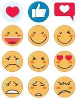 conjunto de ícones de emoji vetor