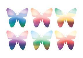 Vetor borboletas de aquarela