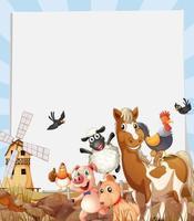animais de fazenda vivendo em fazendas vetor