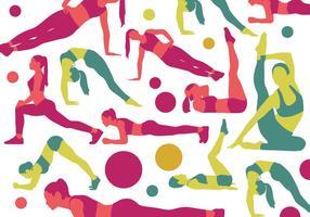 Silhuetas de Poses do esporte da mulher vetor