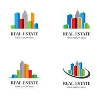 conjunto de imagens de logotipo de imóveis vetor