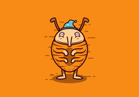 Vetor de bug cama livre