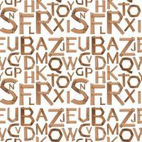 Alfabeto Inglês sem costura de fundo vetor