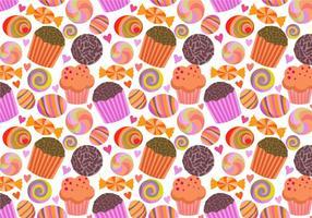 Vetores de padrões de doces grátis