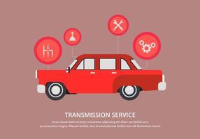 Infiltração de reparos de automóveis em mudança de marchas vetor
