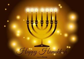 Ilustração feliz de Hanukkah