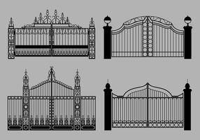 Vetor livre do portão aberto