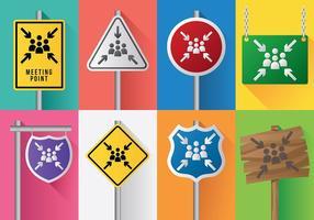 Ícone de ícones de pontos de encontro grátis vetor