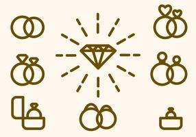 Vector de anel de casamento gratuito