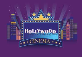 Hollywood light cinema vector