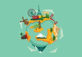 Vetor livre de viagens mundiais