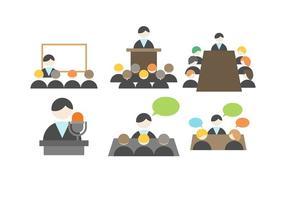 Vector de reunião de negócios grátis