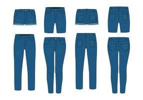 Vetor de jeans azul grátis