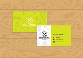 Cartão de nome Vector Template Free Vector