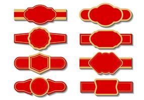Vector de modelo de etiqueta de cigarro grátis