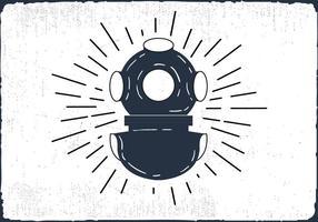Fundo de mergulho desenhado à mão livre vetor