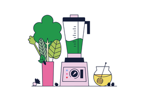 Vector de suco verde grátis