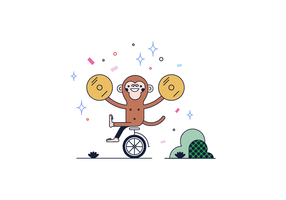 Vetor de macaco de mostra grátis